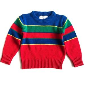 Vintage 80's rainbow knit sweater sz 24 months